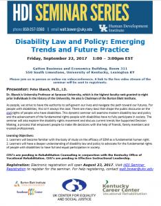 HDI Seminar Series flyer image.